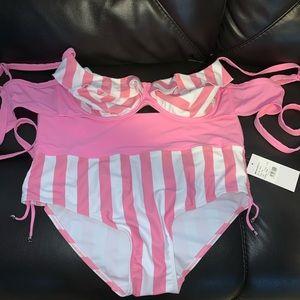 Pink Candy Stripe Bikini